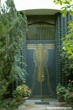 Behrens House doors, Darmstadt - Germany by Peter Behrens, Architect & Designer, important member of Architecture Moderniste movement