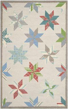 Safavieh Martha Stewart MSR3751C-Lemoyne Star Pewter Gray Rug