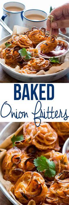 Crispy Baked Onion Pakodas (Fritters) - My Food Story