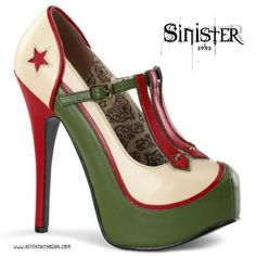 #sinistersoles #cute #sexy #shoes #heels #highheels #fashion #oldies #army #military #style