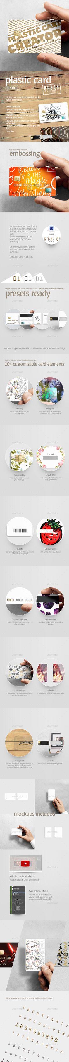 Plastic Card Creator - #Business #Cards Print Download here: https://graphicriver.net/item/plastic-card-creator/19721767?ref=alena994