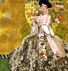 An astounding photographic recreation of one of Gustav Klimt's paintings would…
