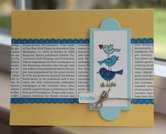 Little Bay Stampin': Start-to-Finish Sunday #5 - For the Birds Hello Card - featuring Stampin' Up! #stampinup