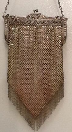 Vintage Mandalian Metal Mesh Purse Chain Fringe Flapper Style 1920s Beautiful | eBay