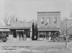 Hughesville, Missouri, Slatons General Store, Bank, Post Office, historic photo