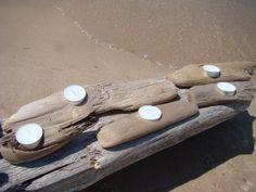 driftwood tea light holders