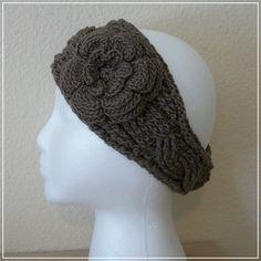 """Crochet Pattern Modified """"Twist"""" Headband with Irish Rose."""