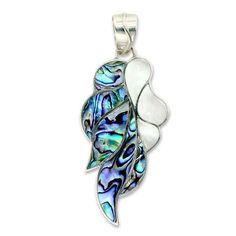 Offerings Sajen 925 Sterling Silver Paua Shell and Mother Of Pearl Pendant #Pendant
