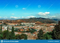 Malaga Panoramic City And Mountains View Editorial Photography - Image of outdoors, famous: 158578477 Image Photography, Editorial Photography, Pictures For Sale, Malaga Spain, Andalusia, Mountain View, September, Mountains, Space