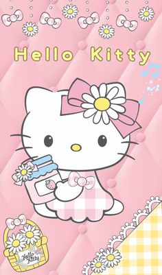 Image in Hello Kitty collection by May May on We Heart It Walpaper Hello Kitty, Hello Kitty Wallpaper, Chanel Wallpapers, Pretty Wallpapers, Sanrio Wallpaper, Girl Wallpaper, Pink Backround, Hello Kitty Handbags, Hello Kitty Imagenes