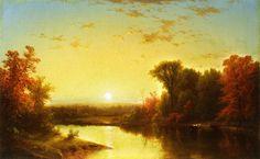 John William Casilear (1811-1893) - Autumn sunset
