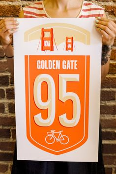 SF BIKE ROUTE POSTER