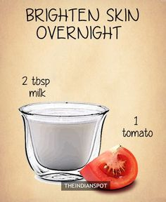 "Overnight Brightening Face Mask Tomato contains fruit acid while raw milk contains lactic acid so this ""high acid"" overnight mask is very beneficial for clear and even looking skin tone. Read More >> Clear blackheads  It helps to even out blemishes, clear blackheads and reduced the size of pores naturally.  Read More >> Get rid of Oily Skin"