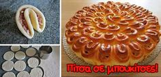 Pizza notes (Greek so translate the page) can work with a sweet dough as well Party Finger Foods, Party Snacks, Appetizers For Party, Sweet Dough, Pizza Bites, Dinner With Friends, Party Buffet, Fun Drinks, Food To Make