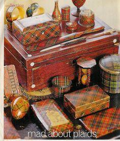 Tartanware collection -- Victoria magazine, 2001