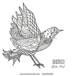 Bird Coloring Pages, Colouring, Adult Coloring, Coloring Books, Animal Doodles, Arts And Crafts, Paper Crafts, Pattern Drawing, Big Kids