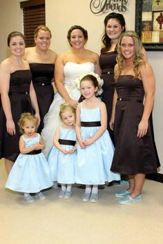 The girls in their cousin Zachary's wedding. December 2012