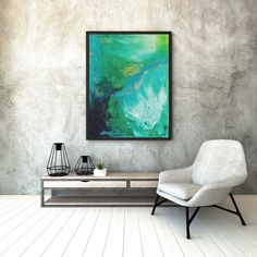 For sale: Acrylic original painting AQUARIUS, beautiful home decor