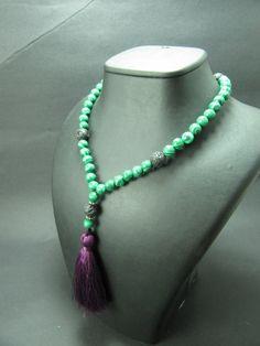 Free Shipping 108 Mala Beads Malachite & Lava by GreenPalace