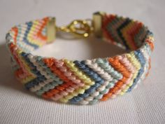 Hand Woven Friendship Bracelet  with toggle by PETALLEDESIGNS, $14.00