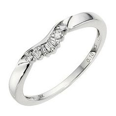 9ct White Gold Diamond Spray Band - Product number 8913161