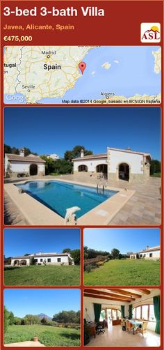 3-bed 3-bath Villa in Javea, Alicante, Spain ►€475,000 #PropertyForSaleInSpain