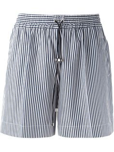 #victoriabeckham #shorts #stripes #blue #pants #womens www.jofre.eu