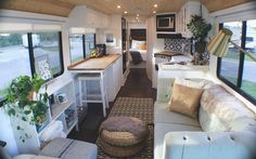 An RV camper interior renovation ideas is a superb way of traveling comfortably. It's now prepared for the client to enjoy camping at the VW indicates he is planning to attend! RV Camping is an immense family experience. Bus Living, Tiny House Living, Tiny House Office, Caravan Living, Caravan Home, Airstream Living, Living Room, Lofts, Travel Trailer Remodel