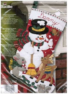 Bucilla Christmas Felt Stocking Kits Snowman and by TucsonTiques