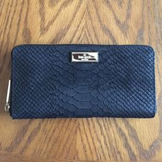 "Kate Spade Elsie Street Exotic Ned Wallet Kate Spade Exotic Street Neda Wallet. Matte snake with smooth leather trim. 7.6"" x 0.8"" x 3.9"" kate spade Bags Wallets"