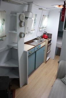 Image result for CanalNarrow Boat Interior Design Narrow