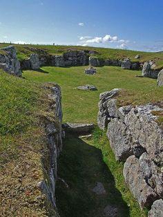 Staneydale prehistoric ruins, Shetland Islands, Scotland by nz_willowherb
