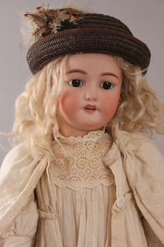 "Stunning 32"" Simon & Halbig / Bergmann Dolly Face Doll, Circa 1900"