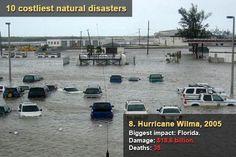 10 costliest natural disasters - Hurricane Wilma