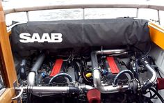 Boat with 2 Saab's turbocharged engines http://www.saabplanet.com/boat-with-2-saabs-turbocharged-engines/