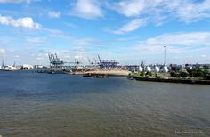 #Elbe #Hamburg Ausblick von den #Dockland