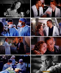 Cristina: Which is it ... surgery or love?   Jackson: I want both.