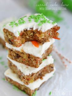 Carrot Cake Bars wit