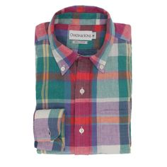 Ovadia and Sons madras shirt -- great spring/summer style!