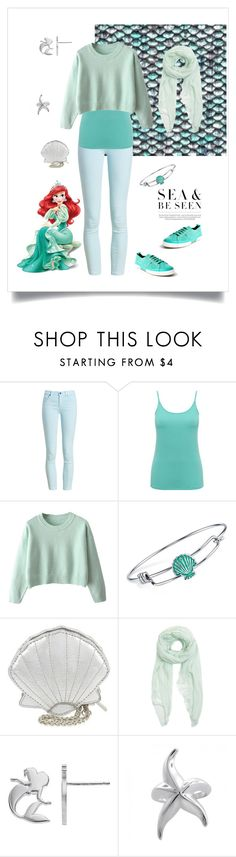 """Ariel Fall Outfit"" by prettypicture99 ❤ liked on Polyvore featuring Barbour, M&Co, Disney, Skinnydip, Furla, Bling Jewelry and Superga"