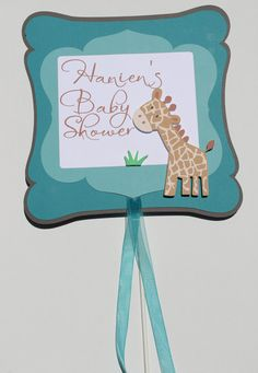 Baby Giraffe Baby Shower Sign by DragonFlyPapier on Etsy, $12.00