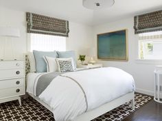 How to Mix Patterns in a Small Space >> http://www.hgtv.com/bedrooms/designer-tricks-for-living-large-in-a-small-bedrooom/pictures/page-7.html?soc=pinterest