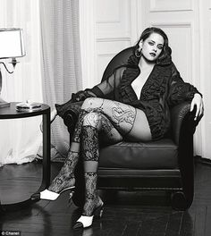 Kristen Stewart as she goes braless for seductive new Chanel campaign | Daily Mail Online