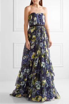 Erdem | Simona floral-print silk-voile gown | NET-A-PORTER.COM