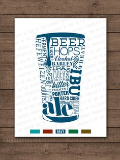 Typography Beer Poster by InkInTheOzarks on Etsy
