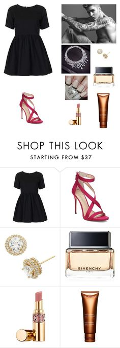 """Photo shoot"" by paradise19t ❤ liked on Polyvore featuring Motel, Imagine by Vince Camuto, Givenchy, OPI, Justin Bieber and Clarins"