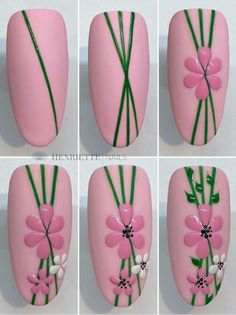 Acrylic False Almond Nails Designs Art In Summer With Fresh And Vibrant - Keep creating beauty and warm home, Find more happiness in daily life Nail Art Designs Videos, Cute Nail Art Designs, Flower Nail Designs, Flower Toe Nails, Flower Nail Art, Purple And Pink Nails, Belle Nails, Nail Art Machine, Fruit Nail Art