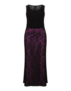 Weise  Lace maxi dress in Black / Purple