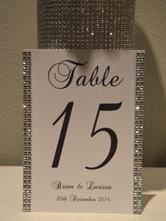 Bling Collection Wedding rhinestone table numbers by KimeeKouture