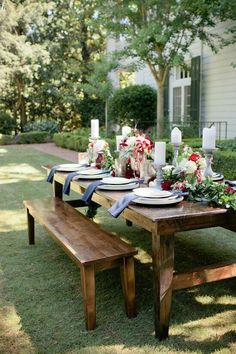 Outdoor bridal shower or intimate tablescape